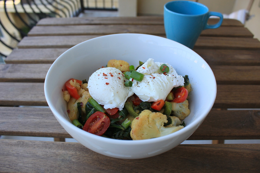Hearty Veggie Medley and Egg Breakfast